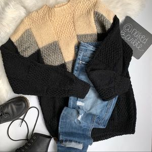 Vintage ❤️ Chunky Knit Tunic Sweater ❤️ Size Large